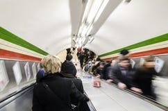 Metro escalators Stock Photo