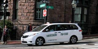 Metro-Fahrerhaus-Taxi-Service, Boston, MA Lizenzfreie Stockfotos