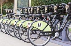 Metro-Fahrrad, das Programm teilt lizenzfreie stockfotos