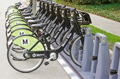 Metro-Fahrrad, das Programm teilt lizenzfreies stockfoto