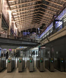 Metro fare stiles in the Gare du Nord, Paris, France Stock Photo