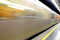 Metro fast for commuters during working hours Stock Images