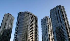 Metro Flatgebouwen met koopflats Royalty-vrije Stock Fotografie
