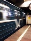 Metro. Flying subway car Stock Image