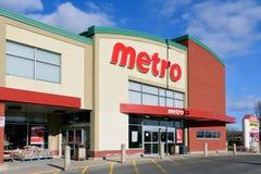 Metro grocery store in Ottawa stock photos