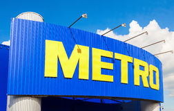 Metro Group sign. Metro Group is a German distribution group royalty free stock images