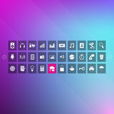 Metro Icon Set Royalty Free Stock Photos