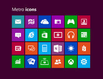 Metro icons Royalty Free Stock Images
