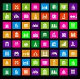 876metro. Metro icons on the black royalty free illustration