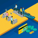 Metro Isometric Design Concept Royalty Free Stock Photography