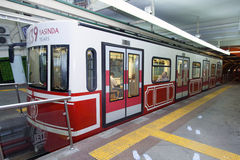 Metro in Istanbul. 20 july, 2014 in Istanbul, Turkey Stock Images