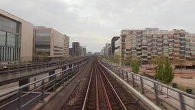 Metro journey view stock video footage