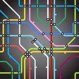 Metro kaartachtergrond Stock Foto