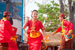 Metro Lampung Dancer. Pictures about one of the traditional arts of Lampung regency, Lampung, Indonesia stock image