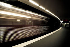 The metro is leaving Royalty Free Stock Photo