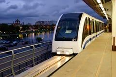 Metro leve de Moscovo imagens de stock royalty free