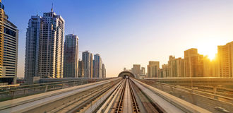 Metro line in Dubai Stock Photography