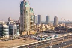Metro line in Dubai Royalty Free Stock Photo