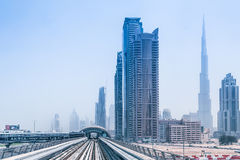 Metro line in Dubai Royalty Free Stock Photo