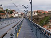 Metro Line Sidewalk.  Porto. Portugal. Stock Image