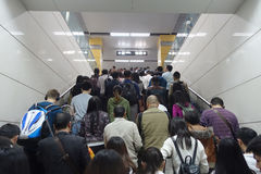 Metro line subway train in chengdu Stock Photo