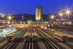 Metro of Los Angeles. Night stock images
