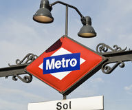 Metro in Madrid, Spain Stock Image