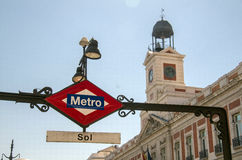 Metro in Madrid, Spain Stock Photography