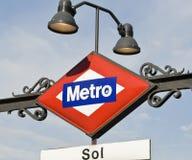 Metro in Madrid, Spanje Stock Afbeelding