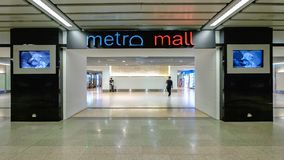 Metro Mall shopping center in MRT subway train. Bangkok, Thailand - October 10, 2017: Metro Mall shopping center in MRT subway train. The MRT serves 240,000 Stock Photos