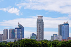 Metro Manila City Philippines Skyline Royalty Free Stock Image