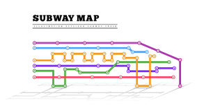 Metro map in the form of a train Stock Photography