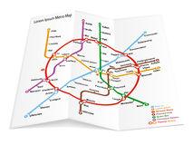 Metro map icon Royalty Free Stock Photos