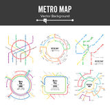 Metro Map Vector. Plan Map Station Metro And Underground Railway Metro Scheme Illustration. Colorful Background With. Stations royalty free illustration