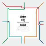 Metro Map Vector. Rapid Transit Illustration. Colorful Background With Stations royalty free illustration