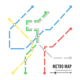 Metro Map Vector. Subway Map Design Template. Colorful Background With Stations Stock Photos