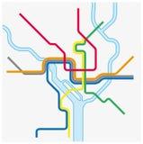 Metro map of Washington DC, United states.  royalty free illustration