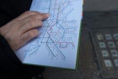 Metro mapa Fotografia Royalty Free