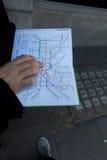 Metro mapa Zdjęcia Royalty Free