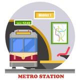 Metro, metro, snelle doorgang of zwaar spoor vector illustratie