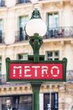Metro metroteken Parijs, Frankrijk royalty-vrije stock fotografie