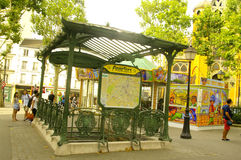 Metro in Montmartre Royalty Free Stock Photos