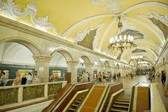 metro moscow Arkivfoton