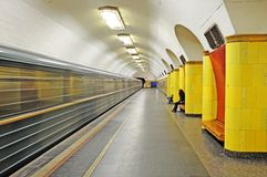 Metro in Moscow. Royalty Free Stock Images