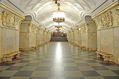 Metro in Moskou. stock fotografie