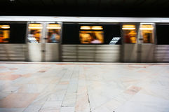 Metro in motion Stock Photo