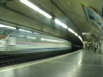 Metro in movement Stock Image