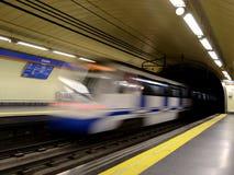 Metro movente Fotografia de Stock