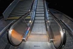 Metro moving escalator Royalty Free Stock Image
