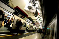Metro. Moving in the London underground subway royalty free stock photos